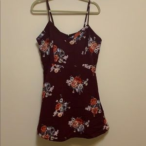 Forever 21 Cut Out Back Floral Dress
